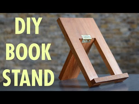 Diy Book Stand A Beginner Woodworking Project Build From Sketch Youtube