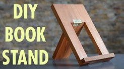 DIY book stand - a beginner woodworking project - BUILD FROM SKETCH