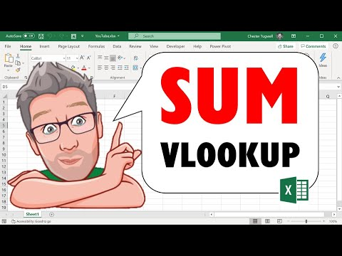 VLOOKUP | Sum ALL Matching Values Or Sum ENTIRE MATCHING ROW or COLUMN