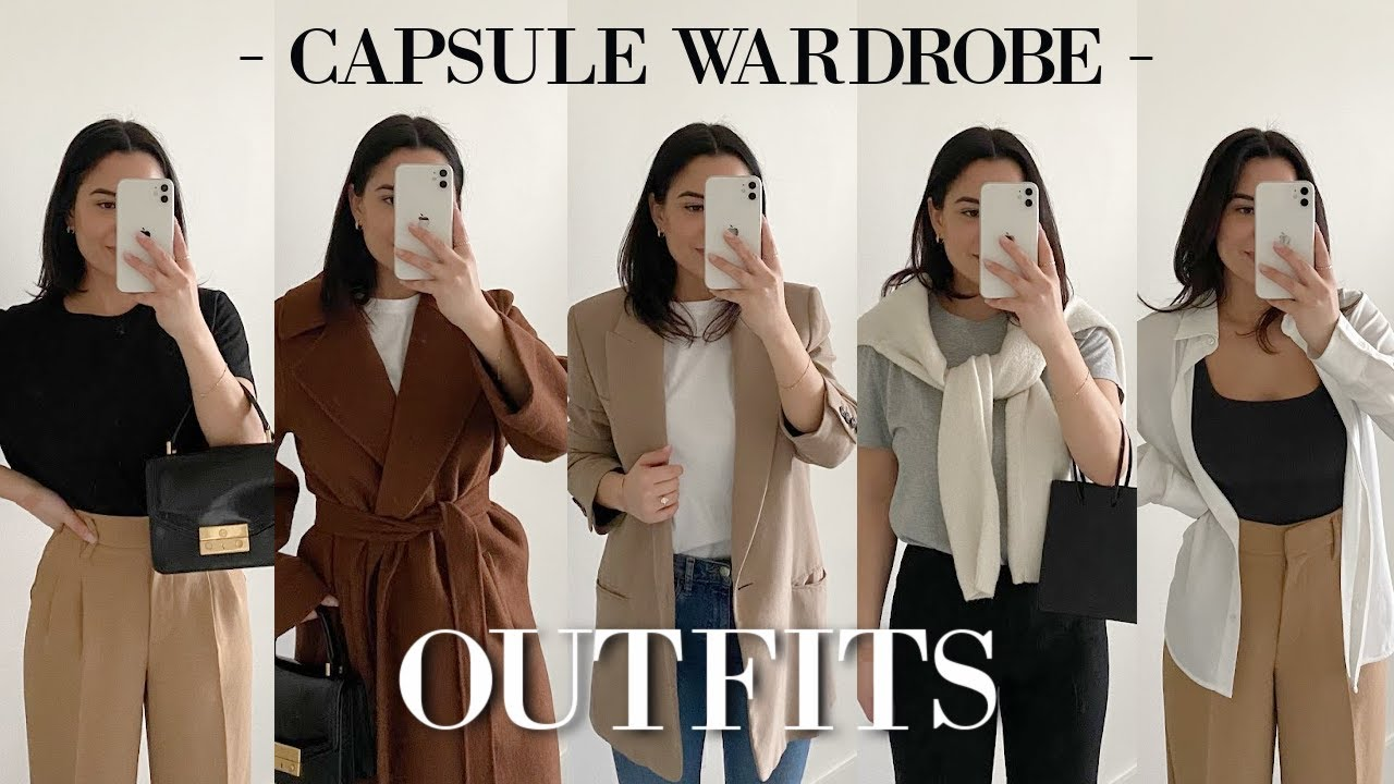 Styling My Capsule Wardrobe - 18 Smart Casual Outfit Ideas! | Haley Estrada