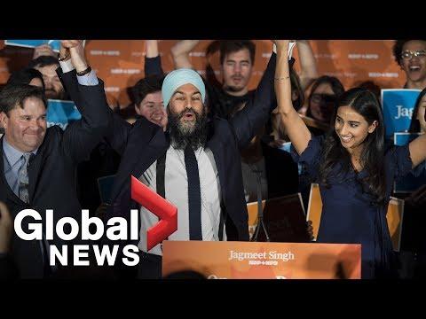 NDP leader Jagmeet Singh FULL victory speech following byelection win