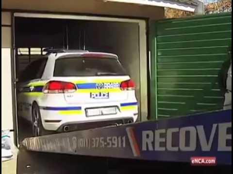 Fake police car in Johannesburg
