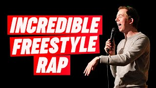 Freestyle Rapper has INSANE skills!