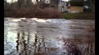Fast Flowing River Coquet by Glen Bowman