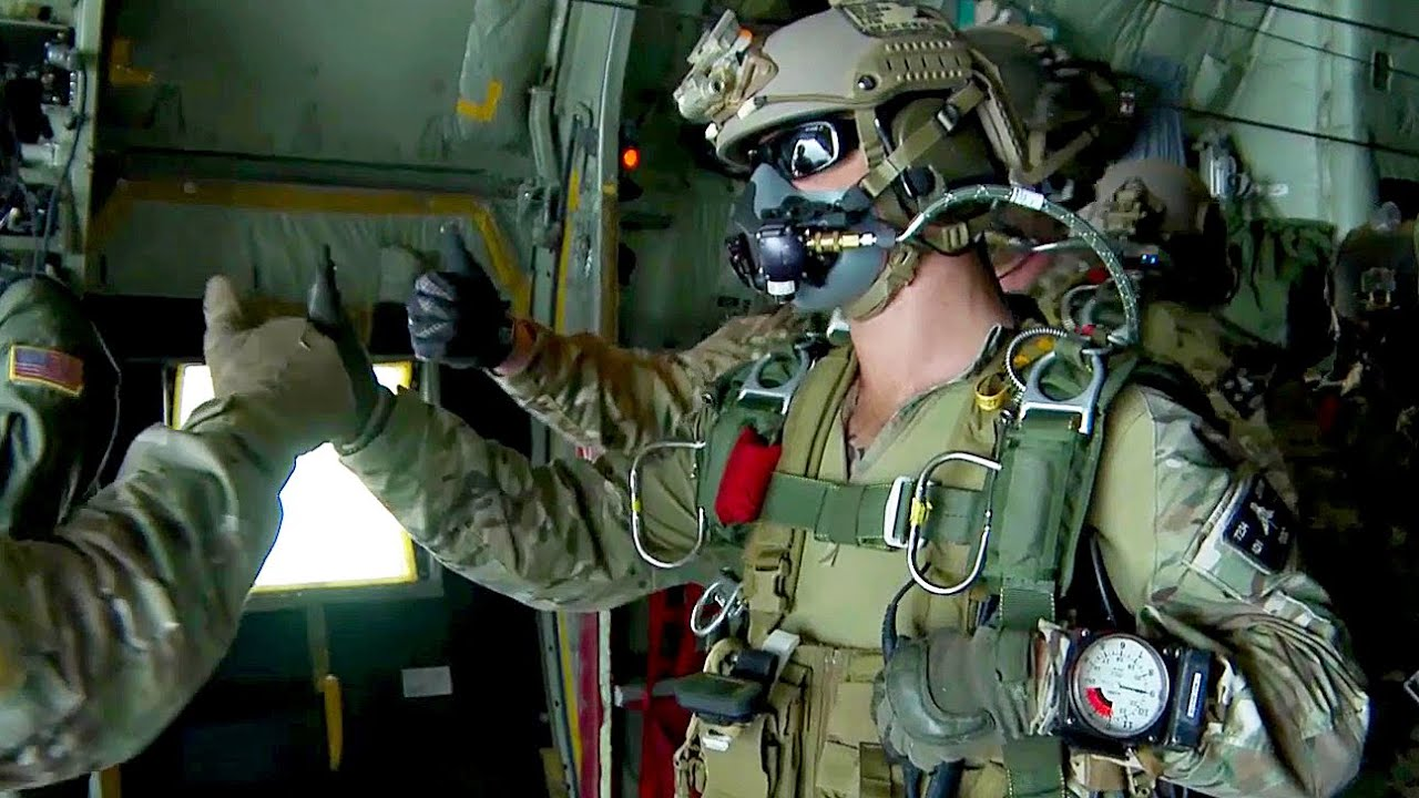 us army special forces green berets high altitude jump youtube