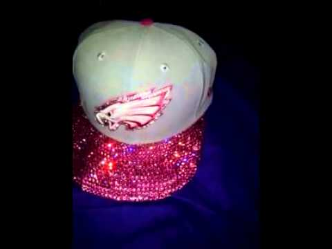 Blinged out fitted Eagles hat. - YouTube 21b51756a5e