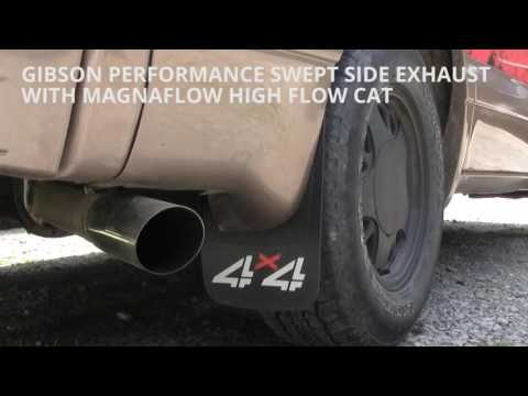 GMC Safari Gibson Performance Exhaust Before & After