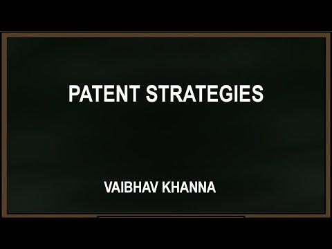 Webinar on Patent Strategies