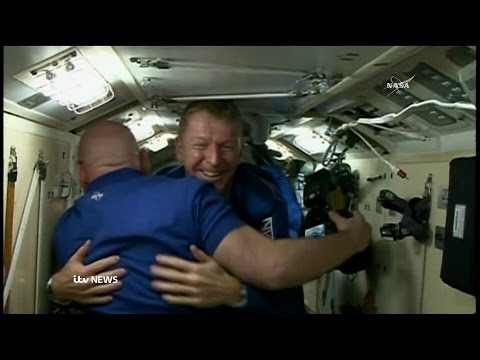 British astronaut Tim Peake's first moments on ISS
