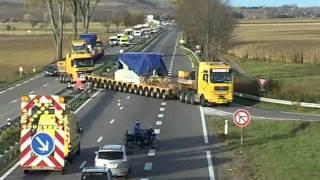 Transport Schmiedepresse / forging press Bohnet Schwertransporte