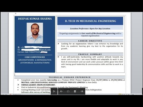 How To Write A Powerful Resume/ CV