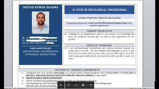 How To write a powerful Resume/ CV