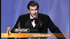 Mel Gibson winning the Oscar® for Directing