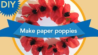 DIY: Make poppies for ANZAC Day