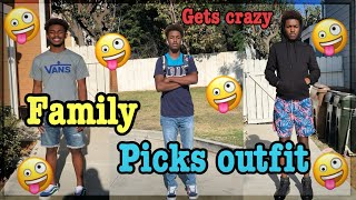 FAMILY PICKS SCHOOL OUTFIT FOR A WEEK! (MUST WATCH)
