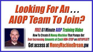 Looking for an AIOP sponsor? Check out all the benefits of joining my Money Machine Team