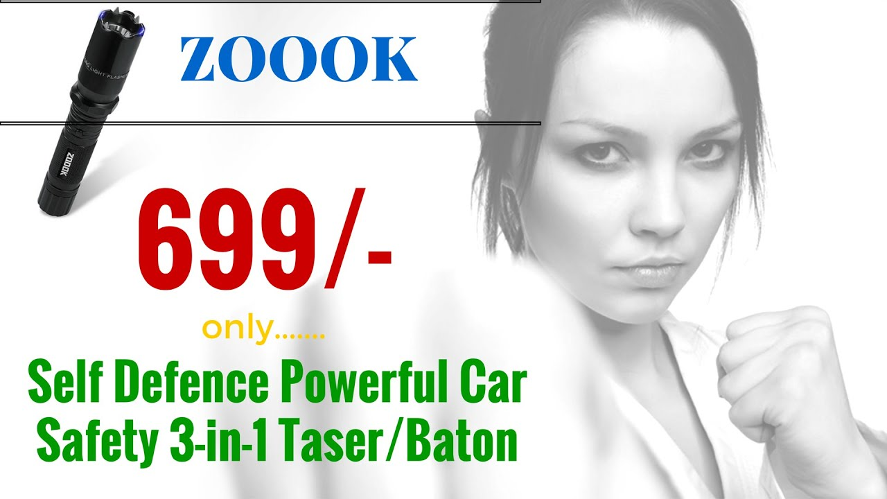 Zoook Moto69 Rechargeable Taser Heavy Duty Stun Baton - Self Defence