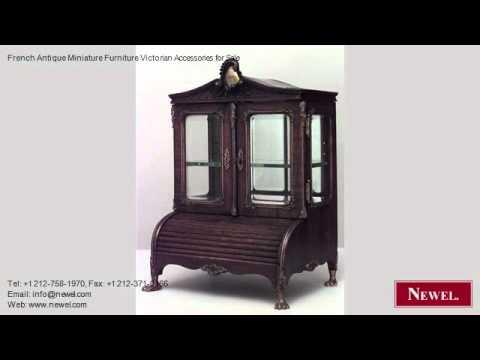 French Antique Miniature Furniture Victorian Accessories