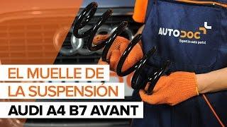 Cómo reemplazar Muelle de chasis AUDI A4 Avant (8ED, B7) - tutorial