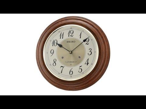 QXM283BLH SEIKO Traditional Musical Wall Clock