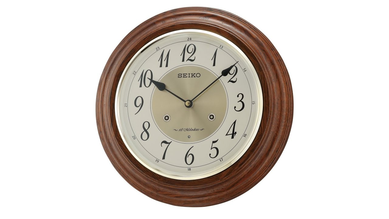 Qxm283blh seiko traditional musical wall clock youtube qxm283blh seiko traditional musical wall clock amipublicfo Images