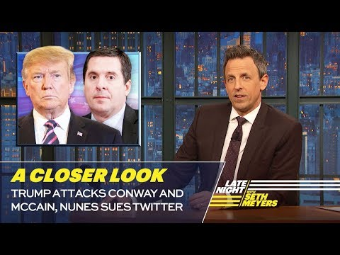 Смотреть Trump Attacks Conway and McCain, Nunes Sues Twitter: A Closer Look онлайн