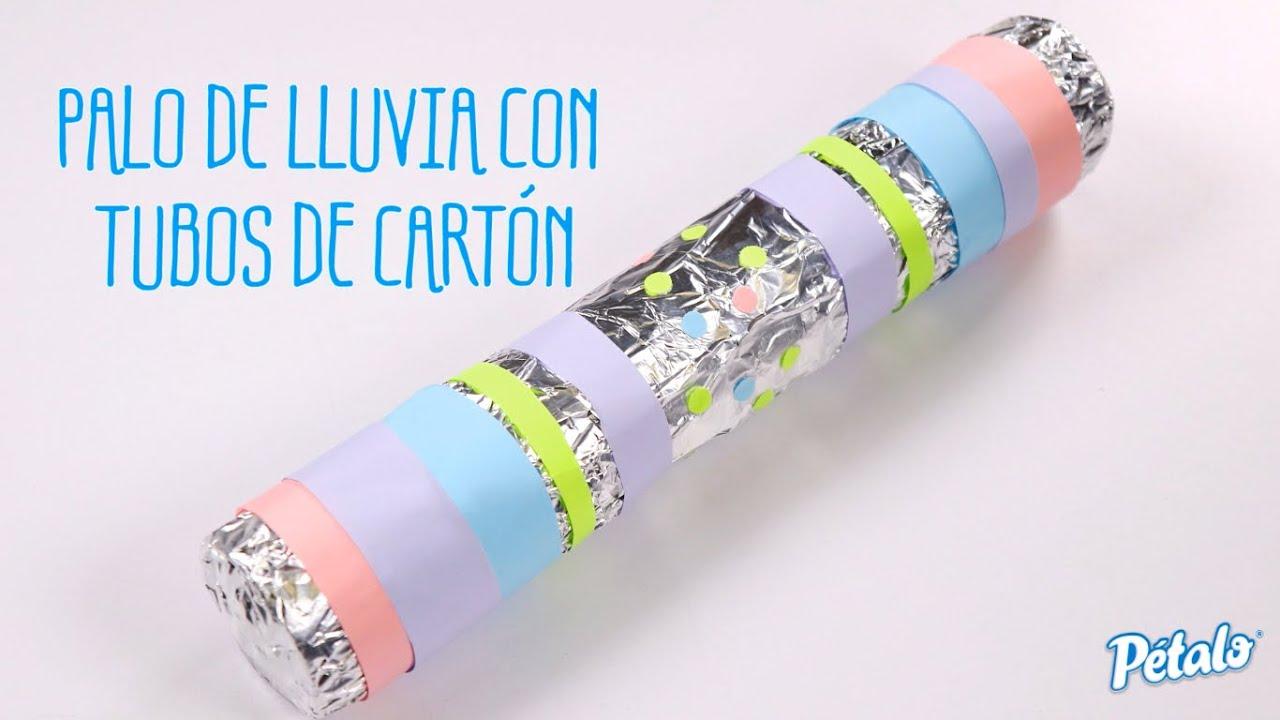 Palo De Lluvia Con Tubos De Carton Youtube