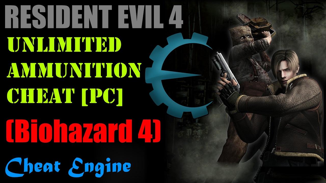 Resident Evil 4 Infinite Ammo Cheat Pc Youtube