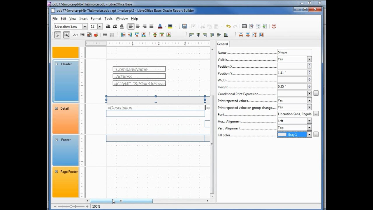 LibreOffice Base (77) Home Invoice pt4b The Invoice - YouTube