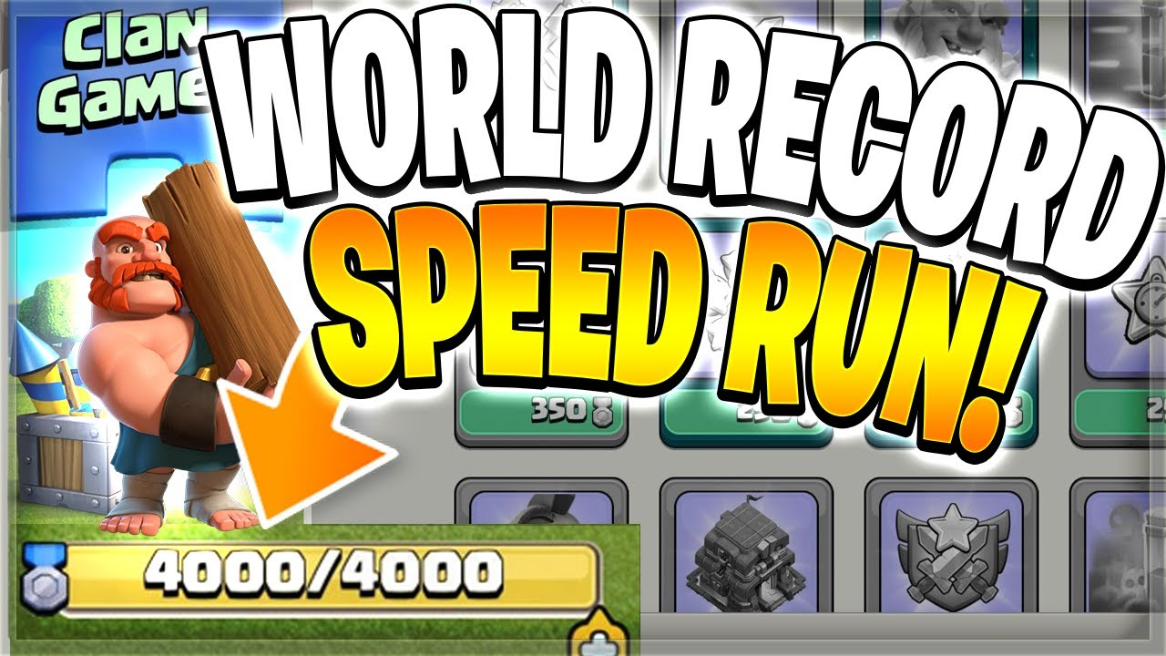 NEW Clan Games Speed Run WORLD RECORD?! (Clash of Clans)