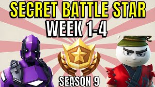 ALL Fortnite season 9 Secret Battle Star Locations week 1 to 4 - Season 9