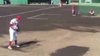 楽天 安樂智大 ブルペン投球練習(ストレート、スライダー)