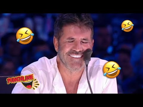 Comedian Makes A Joke About SIMON COWELLS Plastic Surgery | Britain's Got Talent The Champions 2019