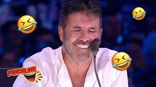 Comedian Makes A Joke About SIMON COWELLS Plastic Surgery | Britain's Got Talent The Champions 2019