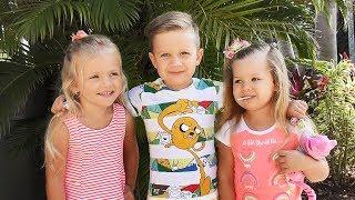 VLOG Приехали в  Гости к Друзьям, Рома, Диана и Лера едут на пляж и играют на площадке