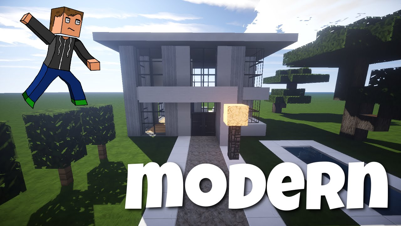 Minecraft modernes haus bauen jannis gerzen tutorial for Minecraft modernes haus tutorial