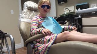Kierstin Hates Numb! Funny kid at the dentist!