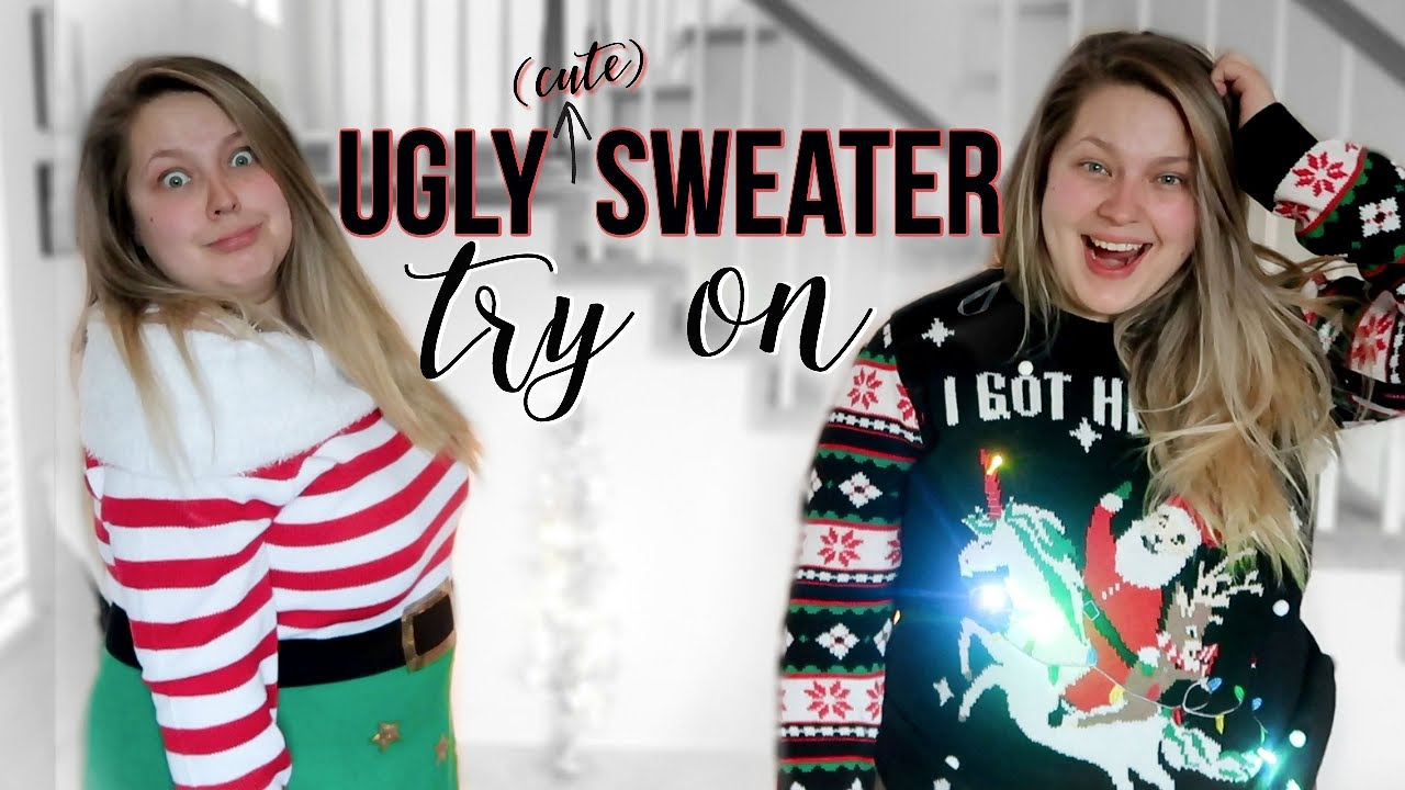 Trying On Ugly Christmas Sweaters From Walmart Plus Size Try On