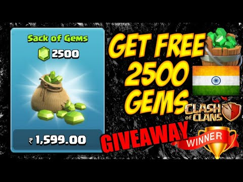 FREE 2500 GEMS GIVEAWAY WINNER ANNOUNCEMENT! CLASH OF CLANS•FUTURE T18