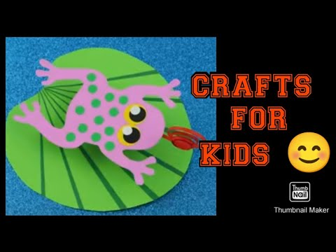 How to make a frog on leaf from paper   DIY Craft Project for Kids   #papercrafting