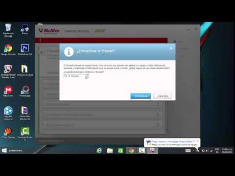 Como desactivar temporalmente nuestro antivirus y firewall McAfee