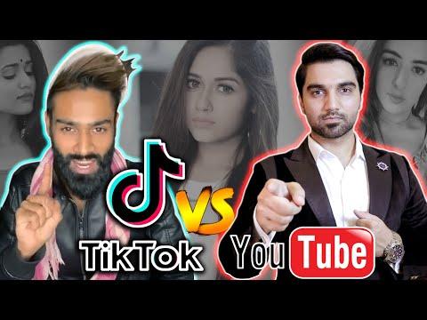 TIK TOK VS YOUTUBE WAR BY MR NOMAN ALEEM | Pakistani And Indian Tik Tokers !