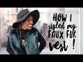 IAmMyOwnStyle - Style Video: How I styled my Forest Green Faux Fur vest