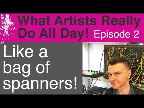 What Artists Really Do All Day - Contemporary Modern Art Vlog: Episode 2 (A bag of spanners!)