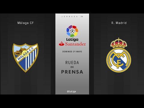 Rueda de prensa Málaga vs R. Madrid