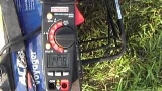 MinnKota 12V 52 lb Thrust current draw test