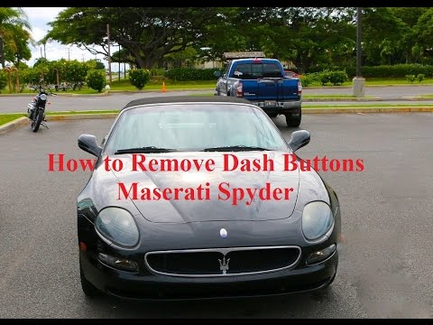 How To Remove Sticky Buttons From A Maserati Spyder
