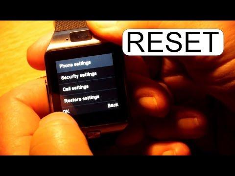Restore Factory Settings To Dz09 Smart Watch Youtube