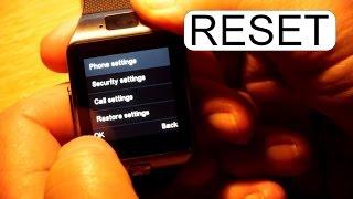RESTORE FACTORY SETTINGS TO DZ09 SMART WATCH