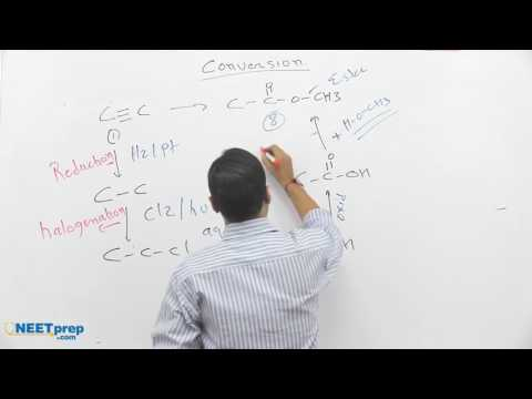 #12 - Conversion: Triple Bond to Acid Derivative - Differentiations & Conversions - Shashi Bhushan